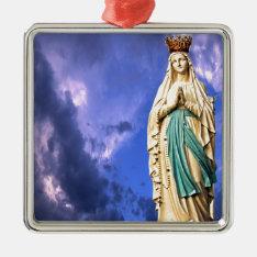 Lady Of Lourdes Metal Ornament at Zazzle