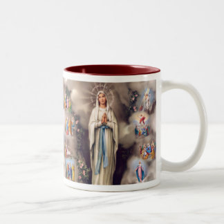 Lady of Lourdes Two-Tone Coffee Mug