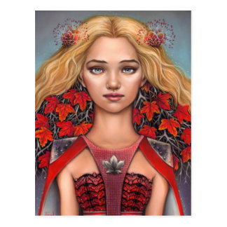Lady of Maple Postcard