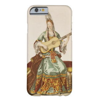 Lady of Quality Playing the Guitar, fashion plate, Barely There iPhone 6 Case