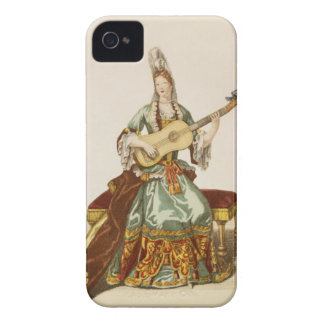 Lady of Quality Playing the Guitar, fashion plate, iPhone 4 Cover