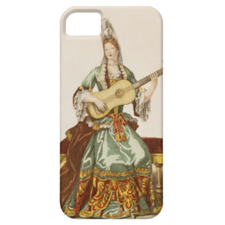 Lady of Quality Playing the Guitar, fashion plate, iPhone SE/5/5s Case