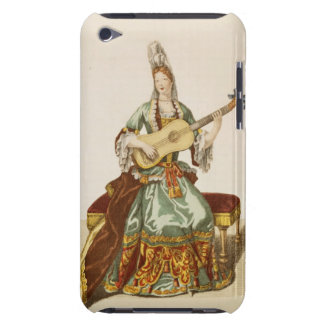 Lady of Quality Playing the Guitar, fashion plate, iPod Touch Case