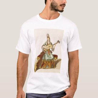 Lady of Quality Playing the Guitar, fashion plate, T-Shirt