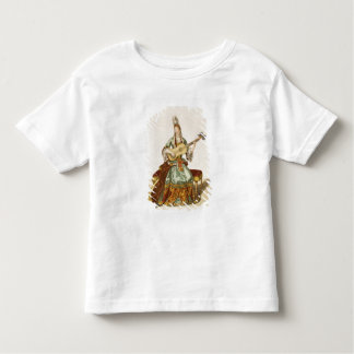 Lady of Quality Playing the Guitar, fashion plate, Toddler T-shirt