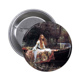 Lady of Shallot antique art painting Pin