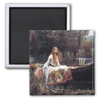 Lady of Shallot antique art painting Magnet