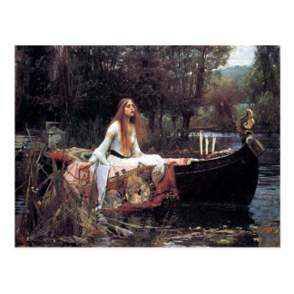 Lady of Shallot antique art painting Postcards
