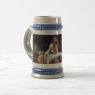 Lady Of Shallot Boat Waterhouse Art 16oz Beer Mug