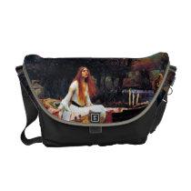 Lady Of Shallot Boat Waterhouse Art Messenger Bag