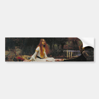 Lady of Shallot by John William Waterhouse Car Bumper Sticker