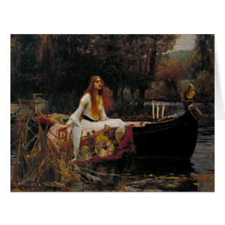 Lady of Shallot by John William Waterhouse Greeting Cards