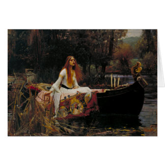 Lady of Shallot by John William Waterhouse Greeting Card