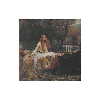 Lady of Shallot by John William Waterhouse Stone Magnet