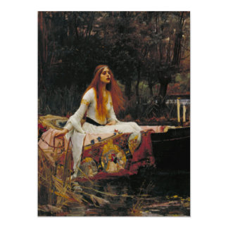 Lady of Shallot by John William Waterhouse Announcement