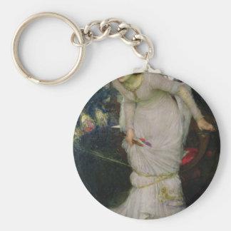 Lady of Shallot by John William Waterhouse Key Chain