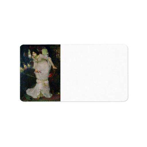 Lady of Shallot by John William Waterhouse Personalized Address Labels