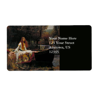 Lady of Shallot by John William Waterhouse Custom Shipping Labels