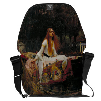 Lady of Shallot by John William Waterhouse Messenger Bags