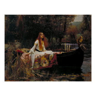 Lady of Shallot by John William Waterhouse Posters