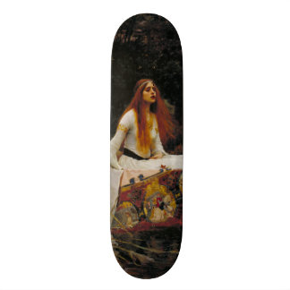 Lady of Shallot by John William Waterhouse Skateboard