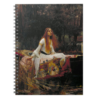 Lady of Shallot by John William Waterhouse Spiral Notebook