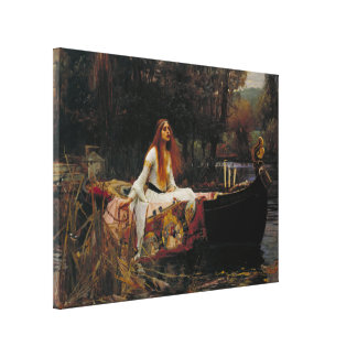 Lady of Shallot by Pre-Raphaelite JW Waterhouse Canvas Print