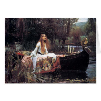 Lady of Shallot fine art painting Cards