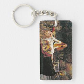 Lady of Shallot Keychain