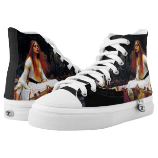 Lady Of Shallot on Boat JW Waterhouse Fine Art High-Top Sneakers