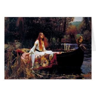 Lady Of Shallot on Boat Waterhouse Art Blank Card