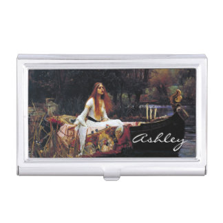 Lady Of Shallot on Boat Waterhouse Art Card Holder Business Card Holders