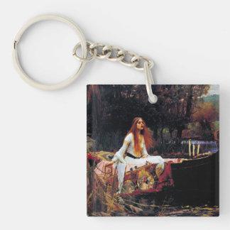 Lady Of Shallot on Boat Waterhouse Art Keychain