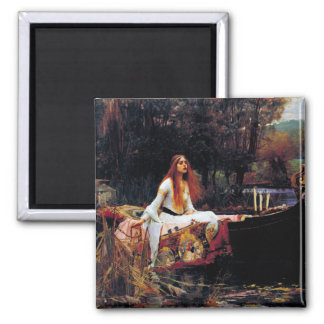 Lady Of Shallot on Boat Waterhouse Art Magnet