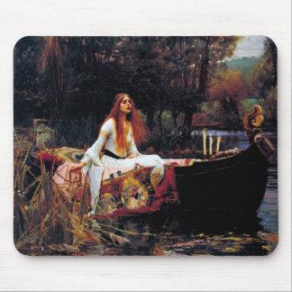 Lady Of Shallot on Boat Waterhouse Art Mousepad
