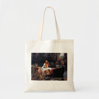 Lady Of Shallot on Boat Waterhouse Art Tote Bag