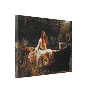 Lady of Shallot Pre-Raphaelite Painting Canvas Print