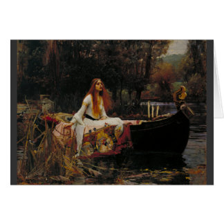 Lady of Shallot Pre-Raphaelite Painting Greeting Card