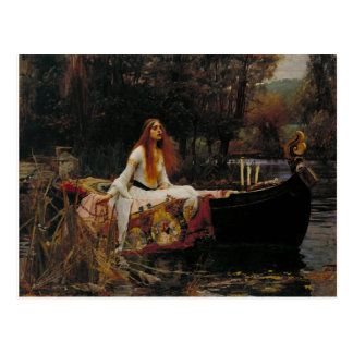 Lady of Shallot Pre-Raphaelite Painting Postcard