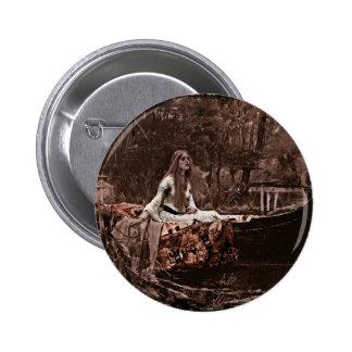 Lady of Shalott Button