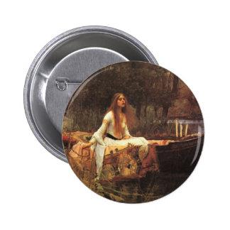 Lady of Shalott by John Waterhouse Buttons