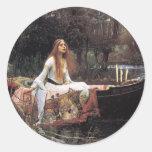 Lady of Shalott Classic Round Sticker