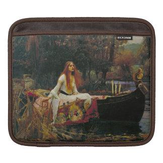 Lady of Shalott in Her Boat iPad Sleeve