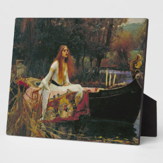 Lady of Shalott in Her Boat Plaque