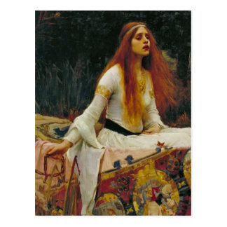 Lady of Shalott in Her Boat Postcard