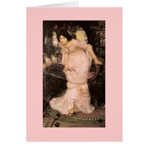Lady of Shalott Looking into a Mirror Card