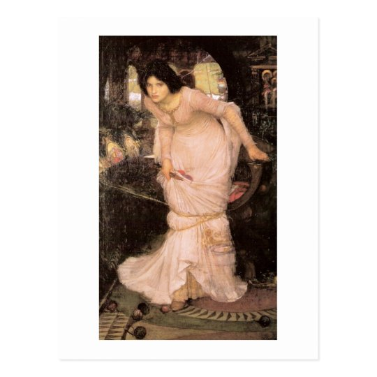 Lady of Shalott Looking into a Mirror Postcard