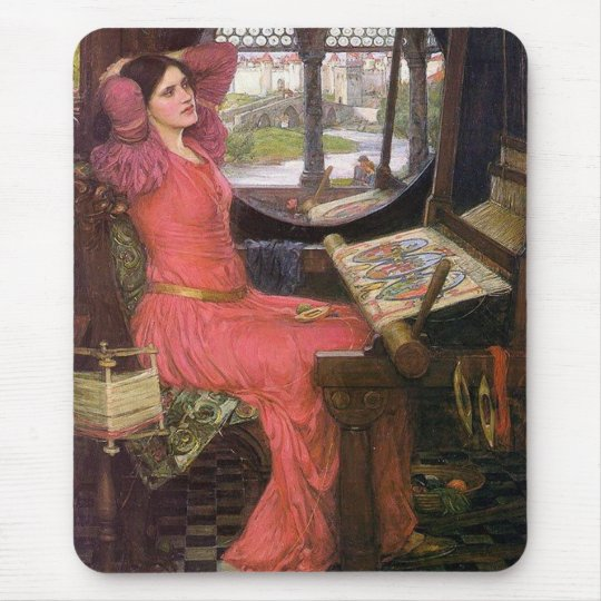 Lady of Shalott Pre-Raphaelite by J. W. Waterhouse Mouse Pad