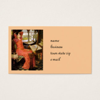 Lady of Shalott  Sitting at Her Desk Business Card