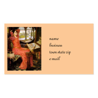 Lady of Shalott  Sitting at Her Desk Double-Sided Standard Business Cards (Pack Of 100)